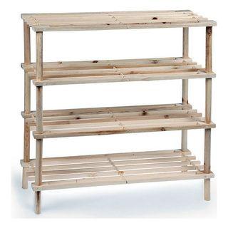 Zapatero madera 4 estantes