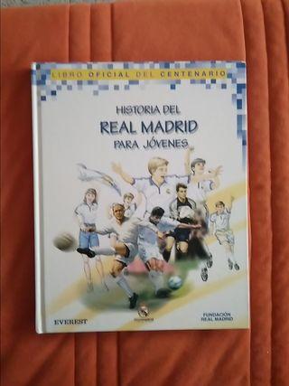Libro Fútbol Historia del Real Madrid para jovenes
