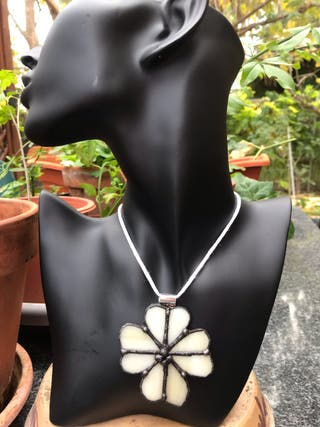 Cabochon colgante collar tiffany cristal vidrio
