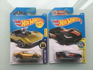 Hot wheels Corvette Gas monkey y Corvette stingray