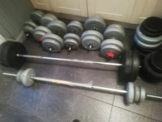 weights and bars.