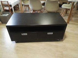 mesa TV wengue negro/marrón salón barata