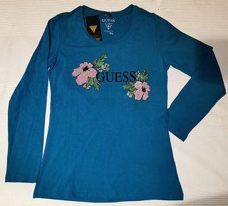 Camiseta mujer manga larga Guess