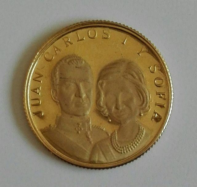 medalla de oro 3,48g