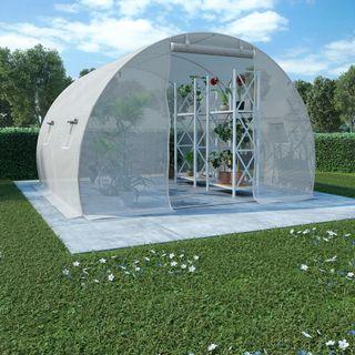 Invernadero cimientos de acero 9 m² 300x300x200 cm