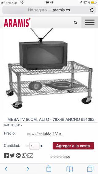 Mueble tv metálico