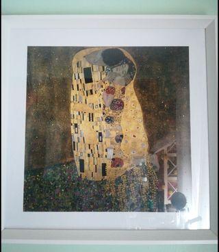 """Cuadro """"El beso"""" de klimt + marco y cristal"""