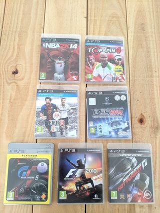 vendo 7 juegos y accesorios para PlayStation 3