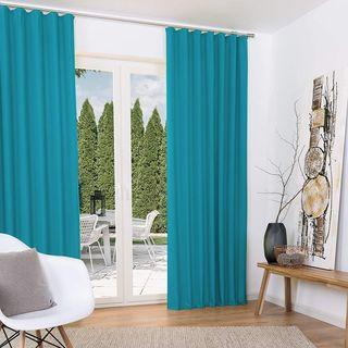 Dos cortinas termicas opacas para oscuridad