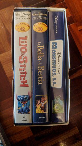 Pack 3 Peliculas Disney VHS