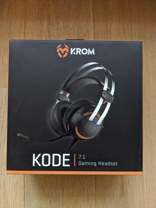Auriculares/Headset Gaming 7.1 Krom Kode - Nuevos