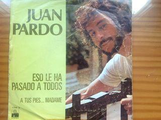 DISCO SINGLE DE VINILO RE JUAN PARDO AÑO 1977.