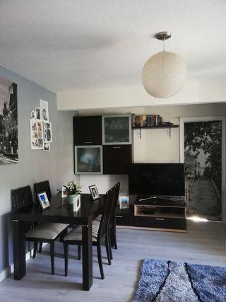 muebles de salón, wengué y roble