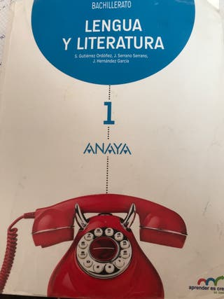 Libro Lengua y literatura 1bachillerato