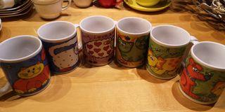 Conjunto 6 tazas desayuno