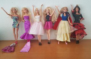 Barbie lote 6 muñecas