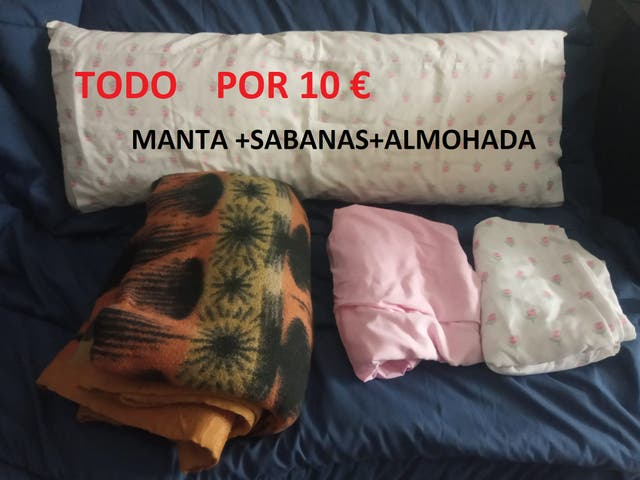 Juego de Manta+Almohada+Sabanas por 10 €