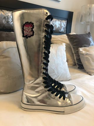 Punk Heavy Boots Silver Cover your Bones Talla 38