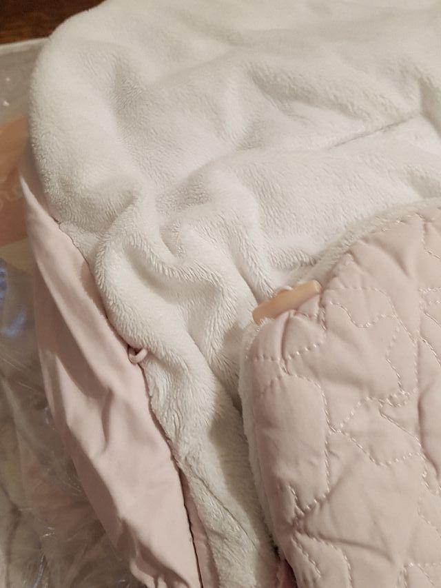 Tuc Tuc - 2 Sacos de invierno rosa/ blanco