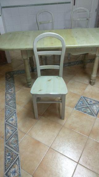 Mesa y set de 6 sillas