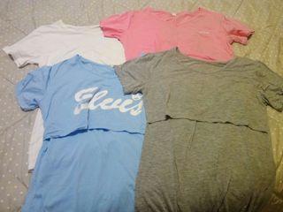 Lote de 4 Camisetas de embarazo y lactancia