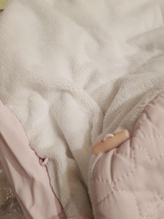 Tuc Tuc - Saco de invierno rosa/ blanco