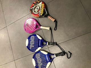 raquetas de papel