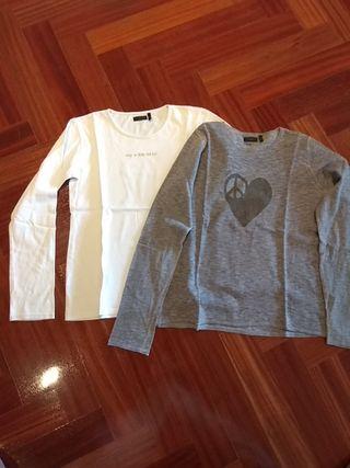 camisetas niña 2en1. Marca IKKS. Están nuevas.