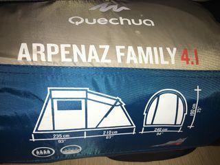 Tienda de campaña familiar Quechua