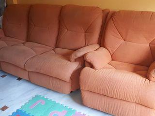 Conjunto sofa de 3 plazas y sillón individual