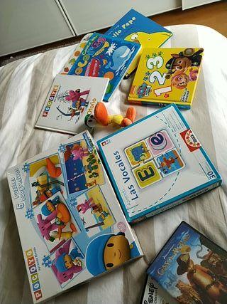 Lote de puzzles y cuentos