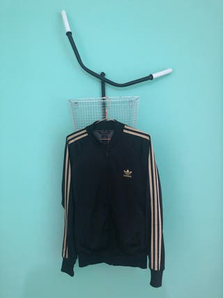 Chaqueta Adidas Originals vintage, black/gold