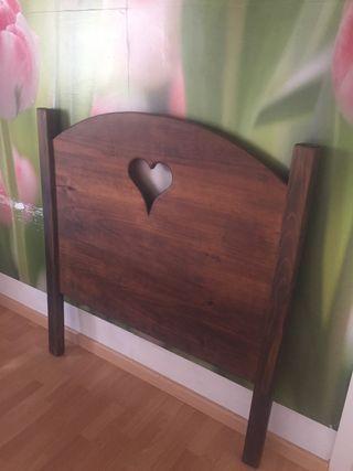 Cabecero madera maciza de 90