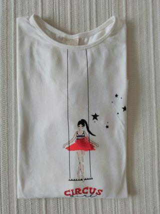Camiseta manga larga niña talla 13/14 Zara