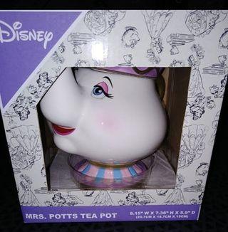 Tetera Sra. Potts nueva Bella Bestia nuevo Disney
