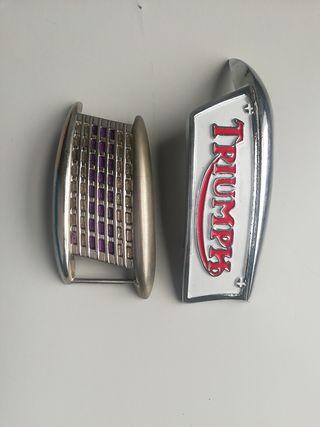 2 Hebillas cinturón Triumph vintage