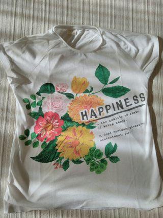Camiseta manga corta niña talla 11/12 Zara