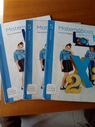 Libro de texto matemáticas 5 de primaria