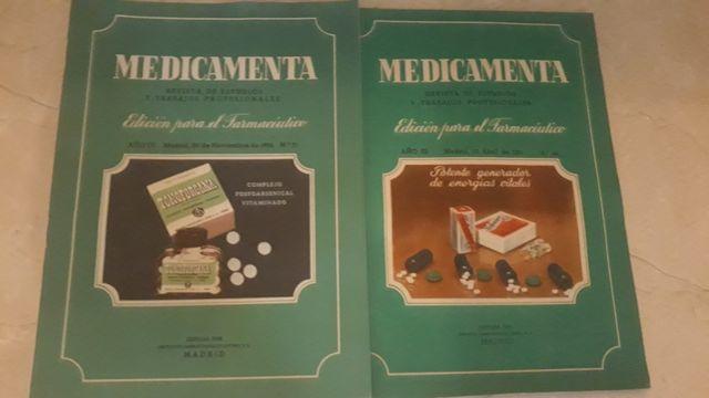Revistas antiguas de farmacia