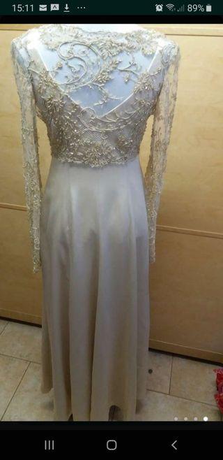 vestido novia dorado