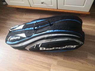 Bolsa Tenis con dos raquetas, pelotas y muñequera