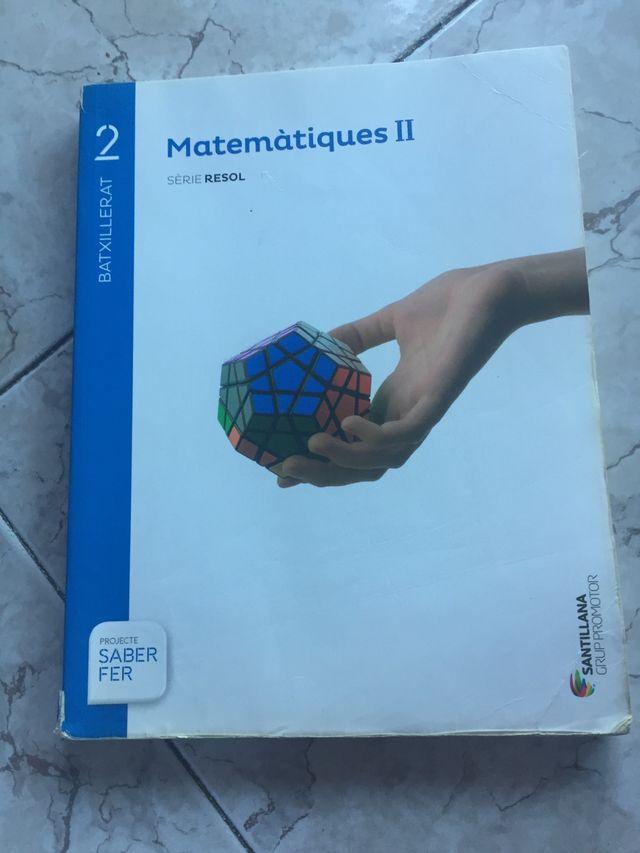 Libro matemáticas de 2 bachillerato SABER FER