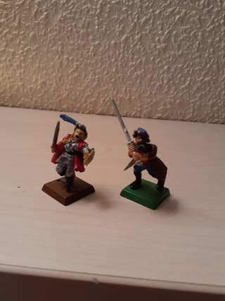 warhammer Mordheim capitan y 2 mercenarios