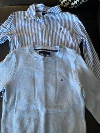 Camisa y jersey tommy hilfiger