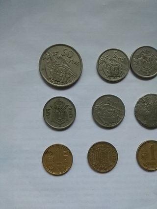Lote de pesetas españolas