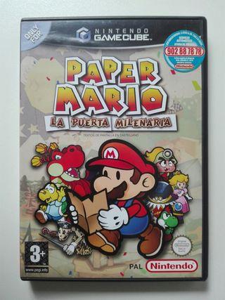 Juego De GameCube Paper Mario: La Puerta Milenaria