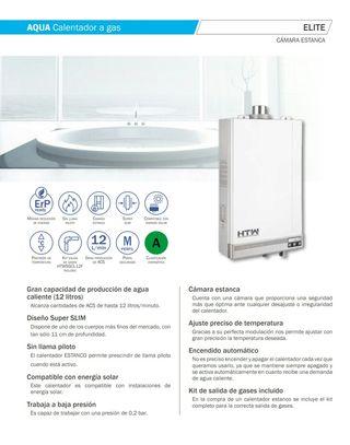 calentador cámara estanca de gas