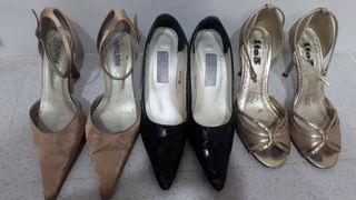 Lote de zapatos tacon n.39.