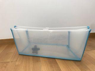 Bañera flexibath Stokke transparente/azul