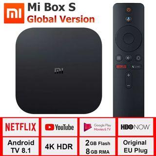 Xiaomi mi TV Box S 4K HDR Android 8 IPTV